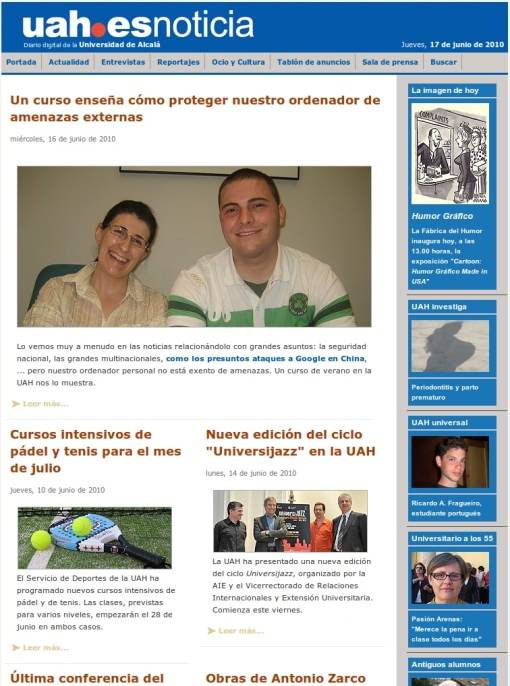 Elena and Ramiro at UAH.ESNOTICIA